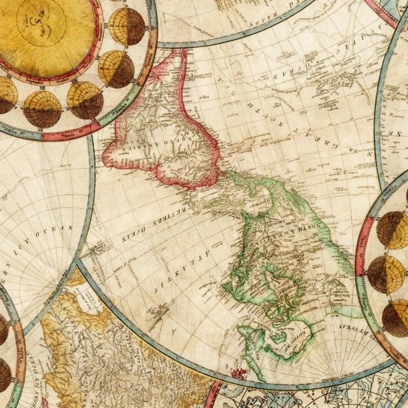 Robert Kaufman - Vintage World Map Digital