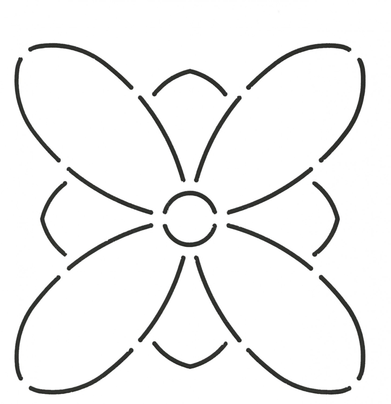 Quilt Stencil Design Floral