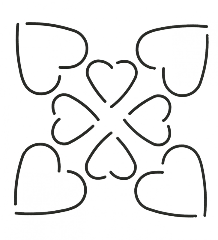 Quilt Stencil Heart Design