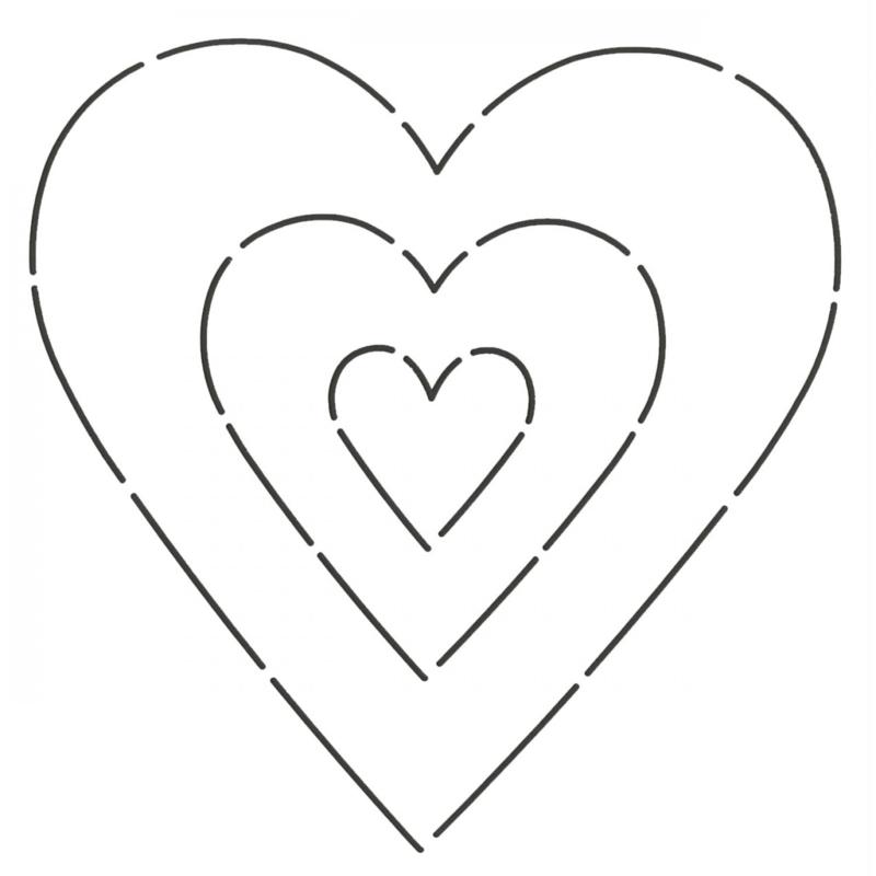 "Applique Stencil ""Sweetheart"""