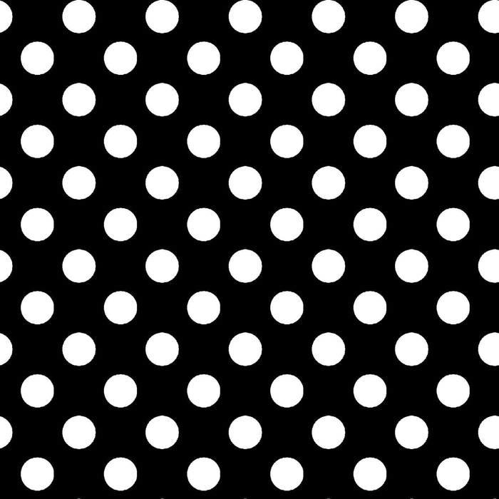 Kimberbell Basic White Dots  on Black MAS 8216-J