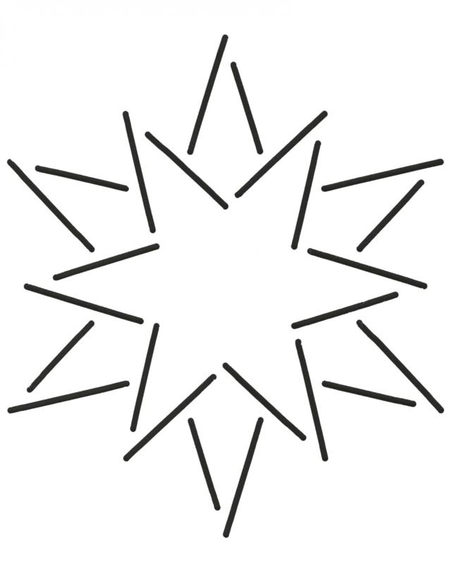 Quilt Stencil 12 Point Star
