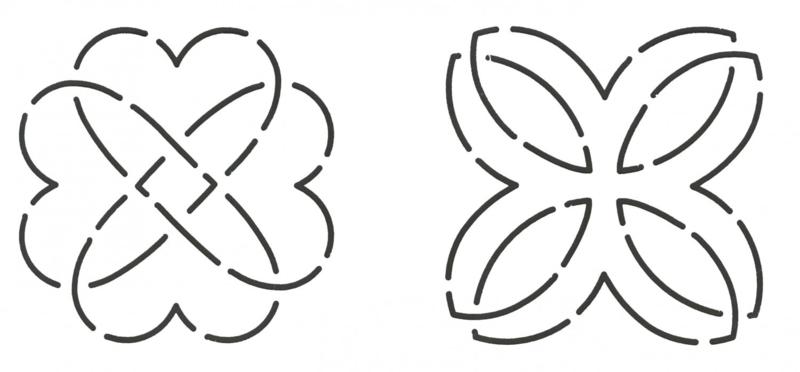 Quilt Stencil Heart Knot Beginners Choice