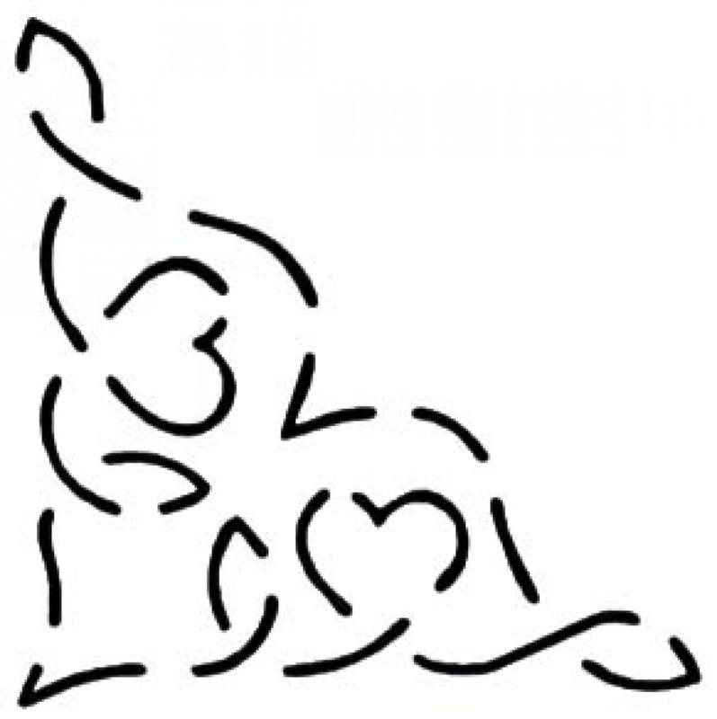 Quilt Stencil Heart To Heart Corner