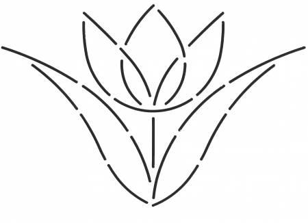 Quilt Stencil SingleTulip