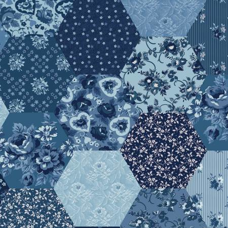 Riley Blake - Delightful Patchwork  Blue