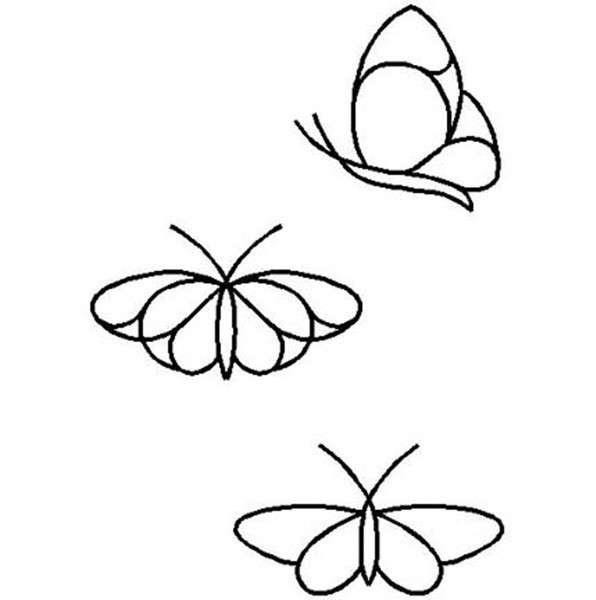 Quilt Stencil Butterflies RF11QC