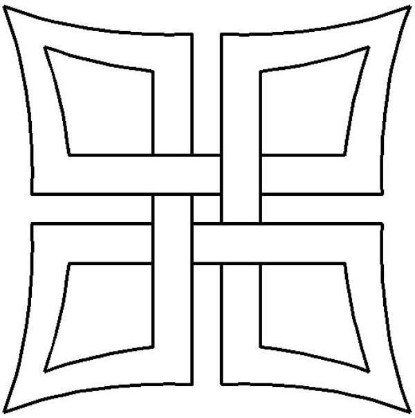 Quilt Stencil Celtic Square DAY15QC
