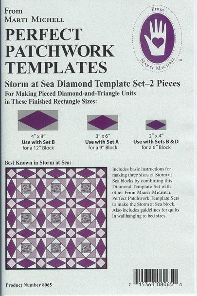 Storm At Sea Diamond / Rectangle Template Set