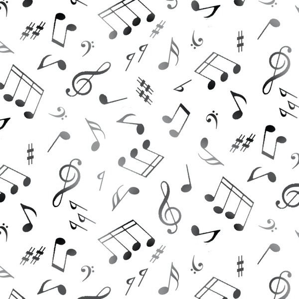 Jazz Notes White