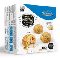 Mini Boukies, rondjes, met kip en 4 kazen Arabatzis 500 gr.