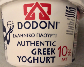 Dodoni Griekse yoghurt, 10% vet, 1 KG