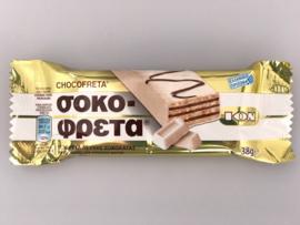 Griekse chocoladewafel wit, 38 gram