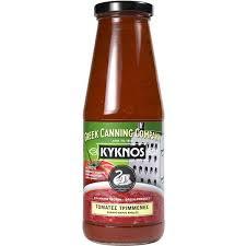 Gezeefde tomaten in fles van 680 gr.