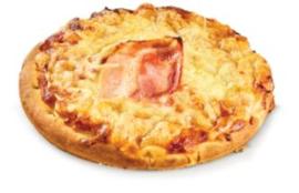 Pizza rond met  ham kaas 200 gr. Arabatzis