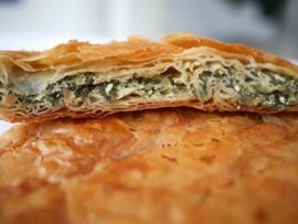 Bougatsa Thessalonikis met spinazie en feta per 2 stuks van 200gr.