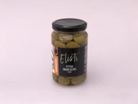 Elisti Groene olijven zp Biologisch 375 ml.