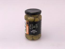 Elisti Groene olijven mp. Biologisch 375 ml.