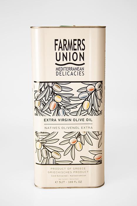 Extra Virgin Olijfolie 5 l. blik. Farmer's Union.