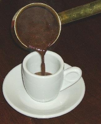 flitzani, Grieks koffiekopje