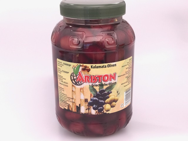 Ariston Kalamata olijven extra jumbo 1 kg pet