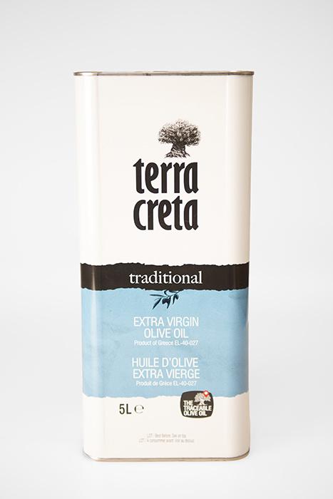 Terra Kreta Extra Virgin Olijfolie blik 5 liter
