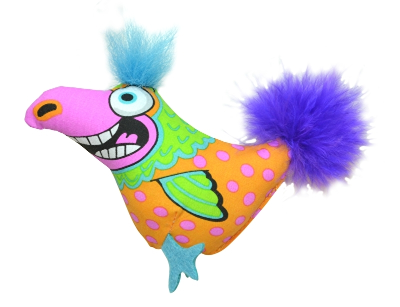 PETSTAGES MADCAP BIG MOUTH BIRD