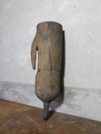 Oude Antieke Houten Foedraal Visnet Boeten