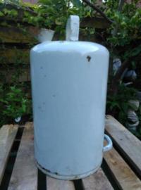 Oude Brocante Emaille Petroleumkan Grijs 5 Liter