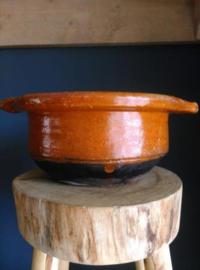 Oude Antiek Brocante Fries Aardewerk Voorraadpot Schaal Kookpot