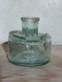 Oud Antiek Brocante Inktpotje Inktflesje voor Griffels