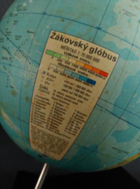 Oude Vintage Globe Wereldbol Zakovsky