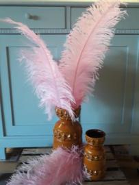 Struisvogelveer Pink - Roze 60 cm
