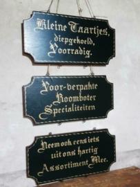 Oud Brocante Reclamebord Bord Bakkerij Kruidenier Roomboter