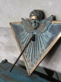Oude Vintage Bronzen Zonnewijzer Patina