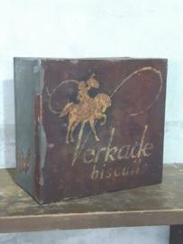 Oud Antieke Verkade Winkelblik Blik Biscuit