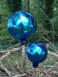Glazen Heksenbal Heksenbol Blauw 15 cm naar Oud Antiek Model