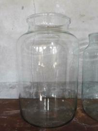 Oud Gerecyclede Bloemenvaas Vaas Pickle Jars Maat XL