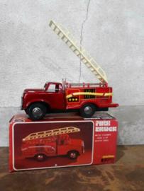 Oud Vintage Blikken Speelgoed - China - Brandweerauto Fire Truck MF163
