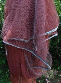 Oude Brocante Visnet XL Bruin Rood