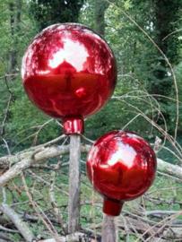 Glazen Heksenbal Heksenbol Rood 15 cm naar Oud Antiek Model