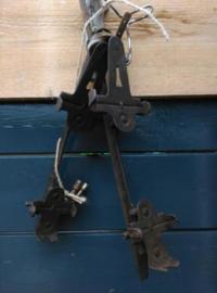 Oude Brocante Metalen Schaatsen
