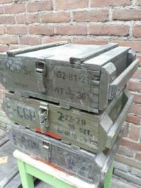 Oude Houten Legerkist Munitiekist Kist
