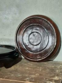 Oud Vintage Chinees Houten Onderbord Sokkel Plateau