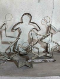 Oude Brocante Franse Bakvormpjes Engel Ster Keukengerei