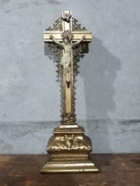 Oude Antieke Crucifix Kruisbeeld Jezus Filligrain
