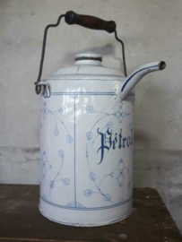 Oude Brocante Emaille Petroleumkan Saks 5 Liter