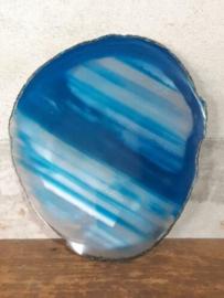 Agaatschijf Agaat Schijf Aqua Blauw - Edelstenen