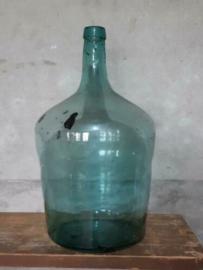 Oude Vintage Hongaarse Gistfles Petrol Zweem