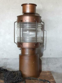 Oude Vintage Koperen Scheepslamp Mast Lamp